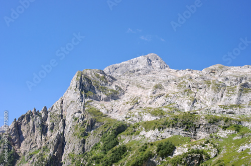 Mountain peak Fisht near the Sochi in summer sunny day