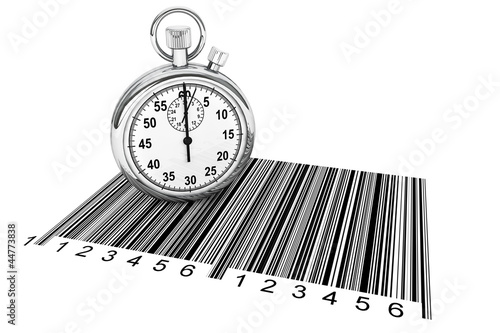 StopWatch with bar code