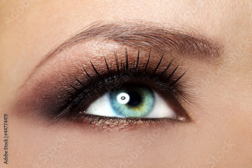 Beautiful female eye Makeup