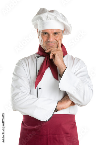 Satisfied professional chef