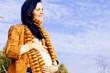 Portrait of beautiful pregnant woman