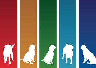 colourful dog banners