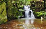 Fototapety Waterfall in Resov in Moravia, Czech republic