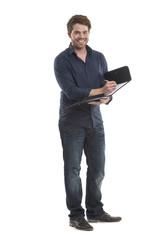 Erfolgreicher Geschäftsmann mit Aktentasche