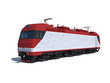 Perspective view of the modern electric locomotive