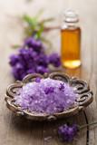 spa set with fresh lavender