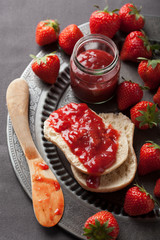 bread with jam and srawberry