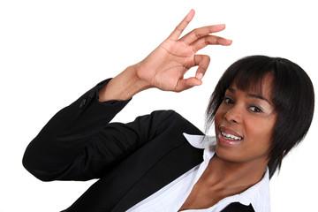 Afro businesswoman