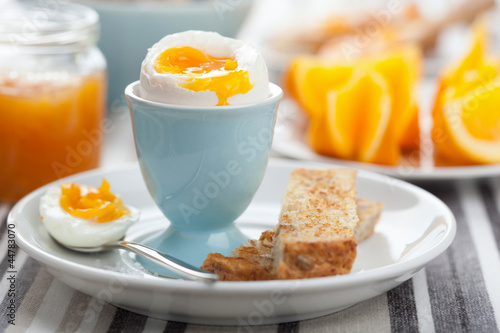 boiled egg for breakfast - 44783070