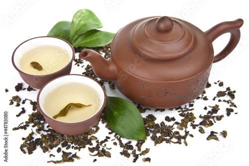 green tea isolated