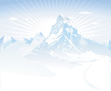 Fototapety verschneite Berge