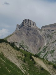 Visible Layers Of Rock On A Mountain