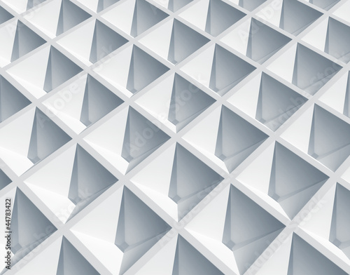 Abstract architecture background. White square cellular surface
