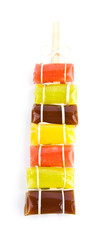Colored caramel sweets.