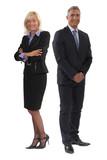 Happy senior business couple