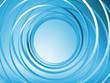 Blue 3d spiral background