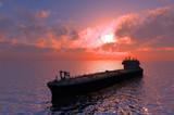 Fototapeta duży - czarny - Tankowiec