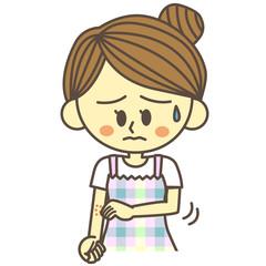 汗疹に悩む女性