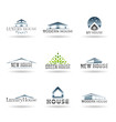Building icon set. Abstract architecture for your design. Vol 3.