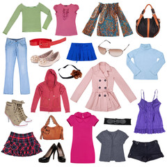 Different female clothes, shoes and accessories #3