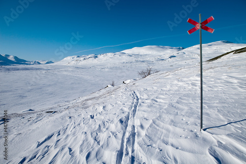 Wintersigns on the Kungsleden