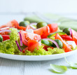 Mediterranean-style salad with feta and green olives