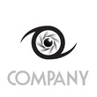 Logo diaphragm and eye # Vector