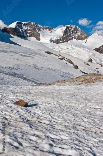 Lyskamm visto dal Rifugio Quintino Sella (Alpi, Valle d'Aosta)