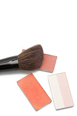 Blushers and correcting powder with brush