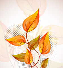 Background with orange leaves