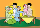 Indonesian Moslem eid mubarak celebration day