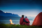 couple camping - Fine Art prints