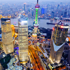 night view of China shanghai