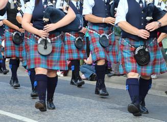 Dudelsackspieler Gruppe Highlandgames Pitlochry