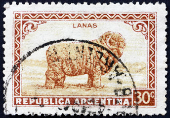 Postage stamp Argentina 1936 Merino Sheep, Wool