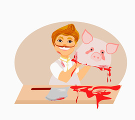 butcher - cartoon