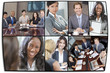 Interracial Men & Women Businessmen & Businesswomen