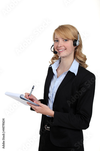Portrait of an attractive receptionist