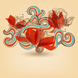Vector flower ornament