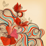 Vector floral background - 44791810