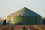 Biogas tank.