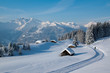canvas print picture - Winterwanderung in den Alpen