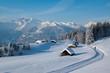 Winterwanderung in den Alpen