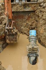 repair the broken pipe