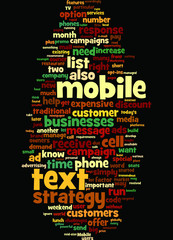 Mobile Text Message Marketing Concept