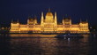 Walking ship floats across Danube by  Hungarian Parliament