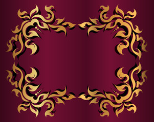 Decorative gold frame for text.