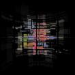 Abstract dark retro technology background texture
