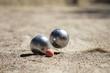 Leinwandbild Motiv cochonnet de boules