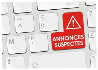 clavier annonces suspectes